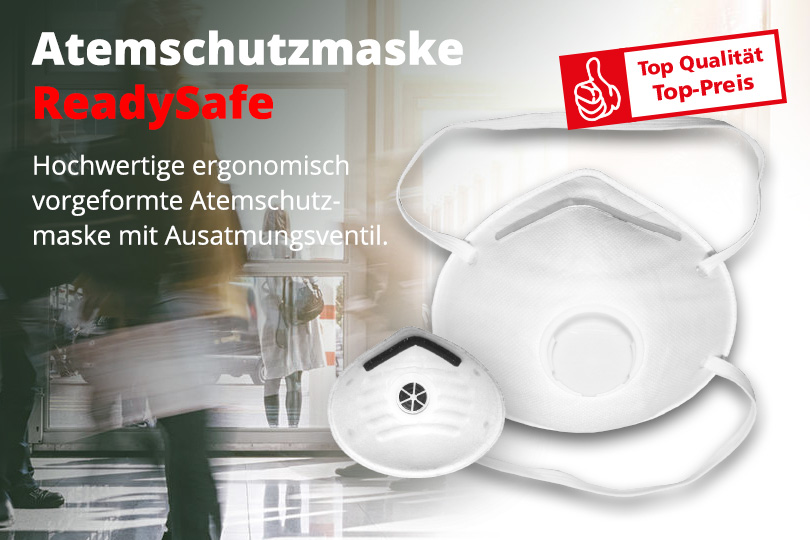 Hochwertige ergonomisch vorgeformte Atemschutzmaske mit Ausatmungsventil